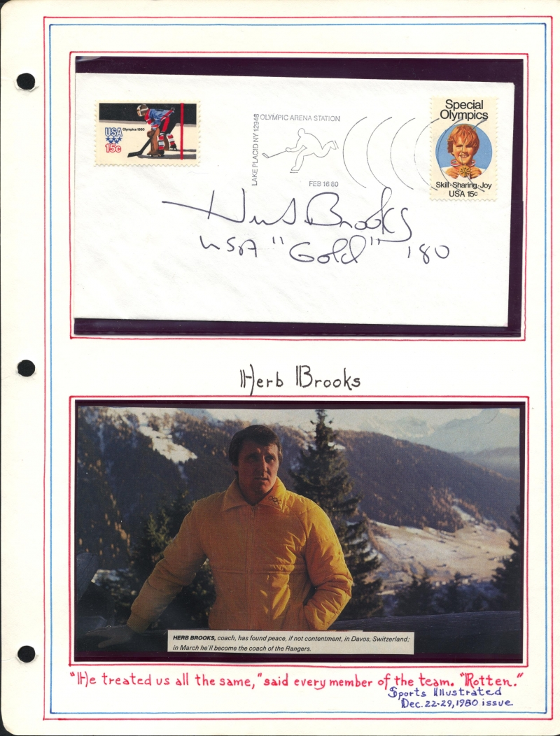 Herb Brooks Autograph