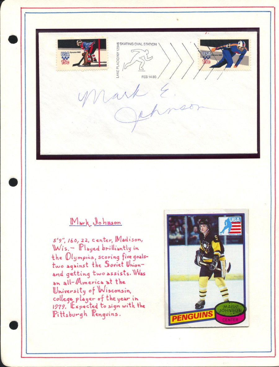 Mark Johnson Autograph